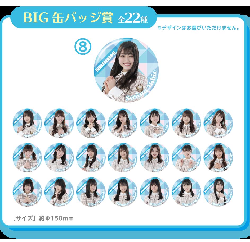 BIG缶バッジ賞 全22種 ※デザインはお選びいただけません。 ⑧ [サイズ]約φ150mm